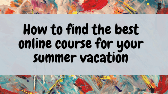 online-course-for-summer-vacation